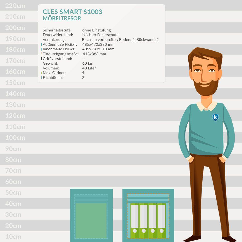 cles smart s1003 m beltresor tresor online shop 954 21 chf. Black Bedroom Furniture Sets. Home Design Ideas