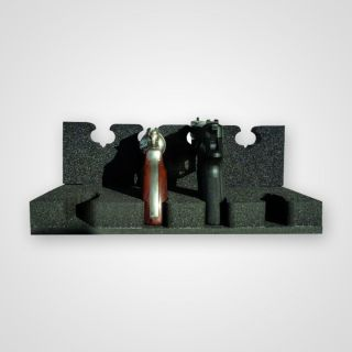 Handgun mounting for up to 4 handguns