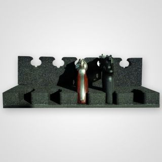 Handgun mounting for up to 5 handguns