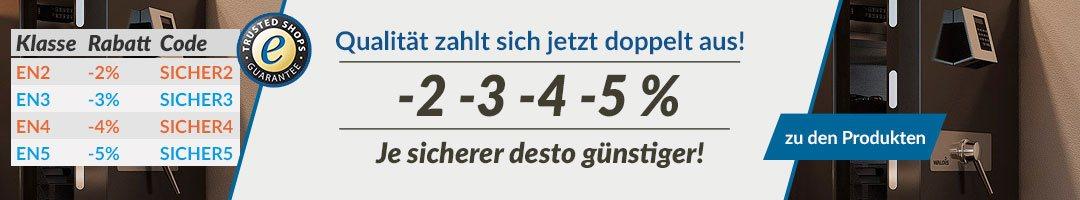 -2 -3 -4 -5% Rabatt