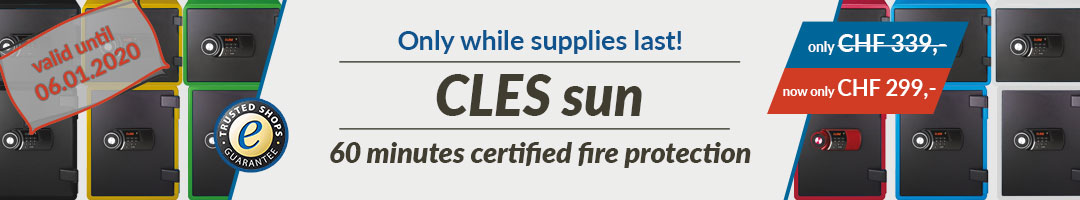Sale - CLES sun fire resistant safe