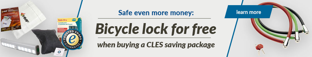 Bicycle lock for free when buying a CLES savi
