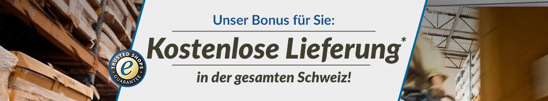 Kostenlose Lieferung in der gesamten Schweiz